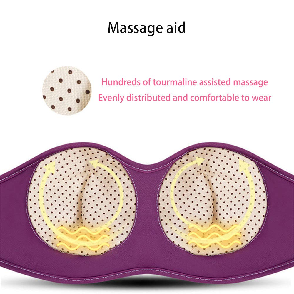 Lignin Chest Breast Massager, Electric Breast Treasure Chest Physiotherapy Instrument Bra Battery Vibration Breast Massager Vibration Massager Suitable for Women by Lignin