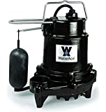 WaterAce WA50SAS Sump Pump, 1/2 HP, Black