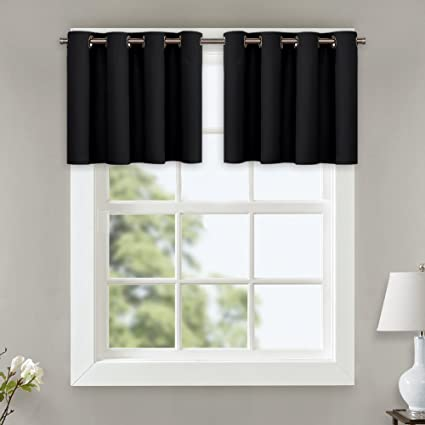 Amazoncom Nicetown Blackout Drapes For Small Window Functional