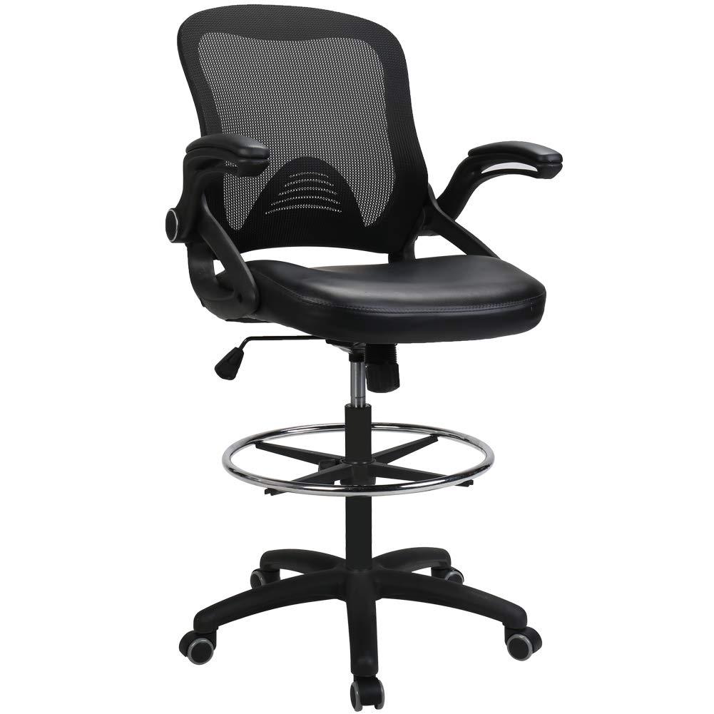 BERLMAN Ergonomic High Back Mesh Office Chair with Adjustable Armrest Lumbar Support Headrest Swivel Task Desk Chair Computer Chair Guest Chairs Reception Chairs