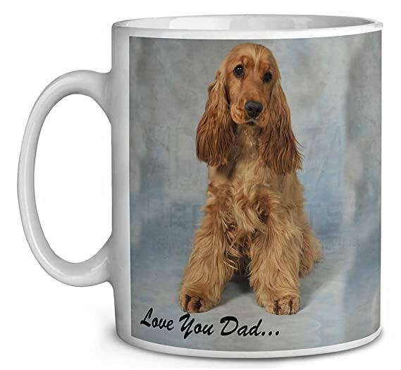 Gold Cocker Spaniel /'Love You Dad/' Coffee//Tea Mug Christmas Stocking DAD-185MG