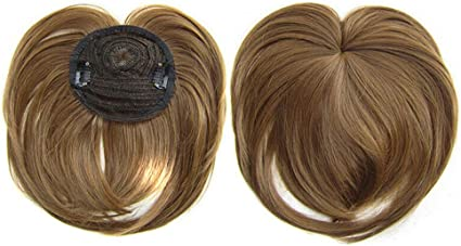 2019 Extensiones de Cabello Clip Pelo Sintético Se Ve Natural,Clip Prótesis Capilar Mujer Ampliar el Volumen en La Coronilla Flequillo Postizo Pelo Humano Hair Toppers Toupee. (6A): Amazon.es: Belleza