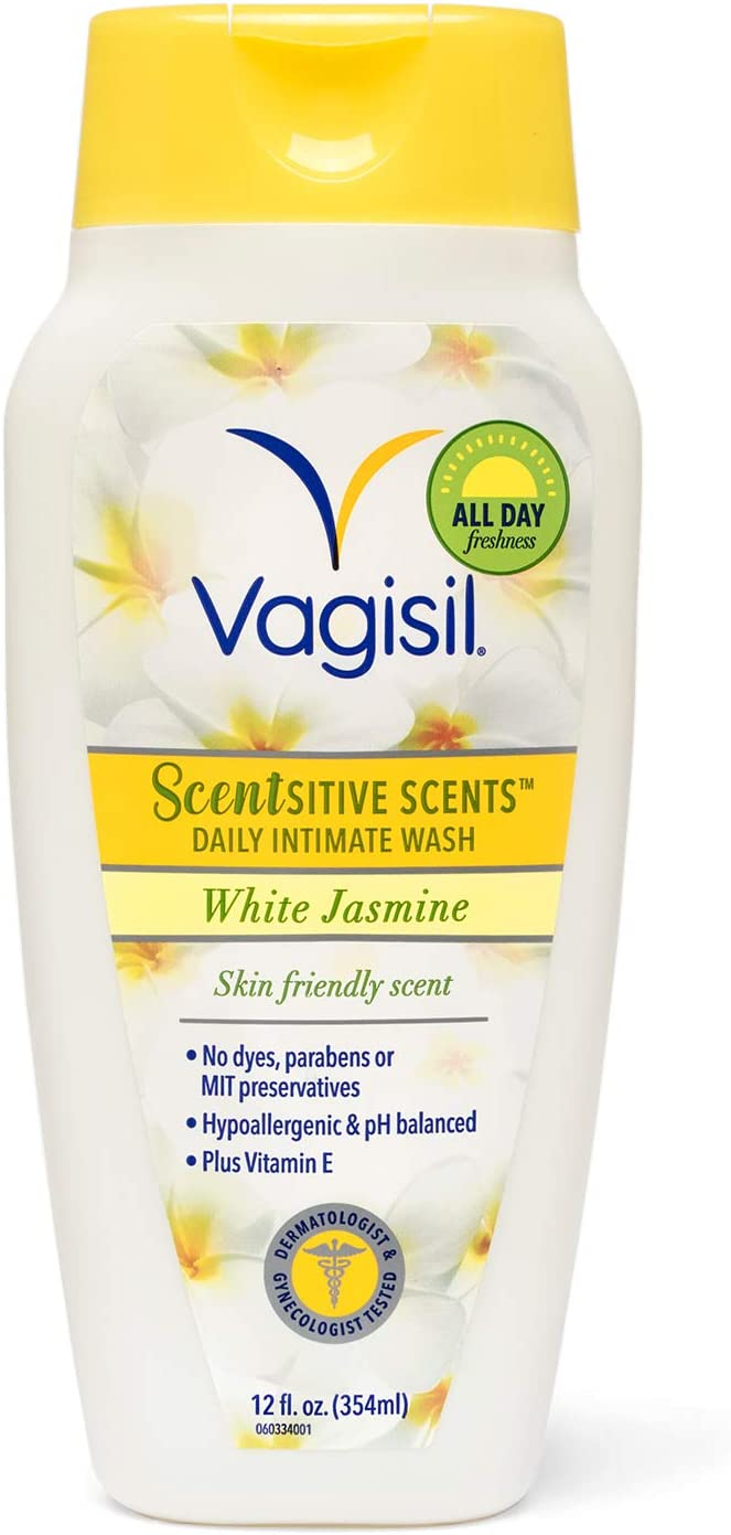 Vagisil Scentsitive Scents Daily Intimate Feminine Wash for Women, Gynecologist Tested, White Jasmine, 12 Fluid Ounce: Health & Personal Care