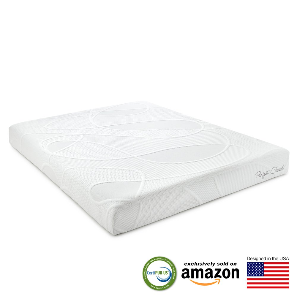 perfect cloud supreme 8 inch memory foam mattress twinxl size featuring new air foam technology for all night comfort