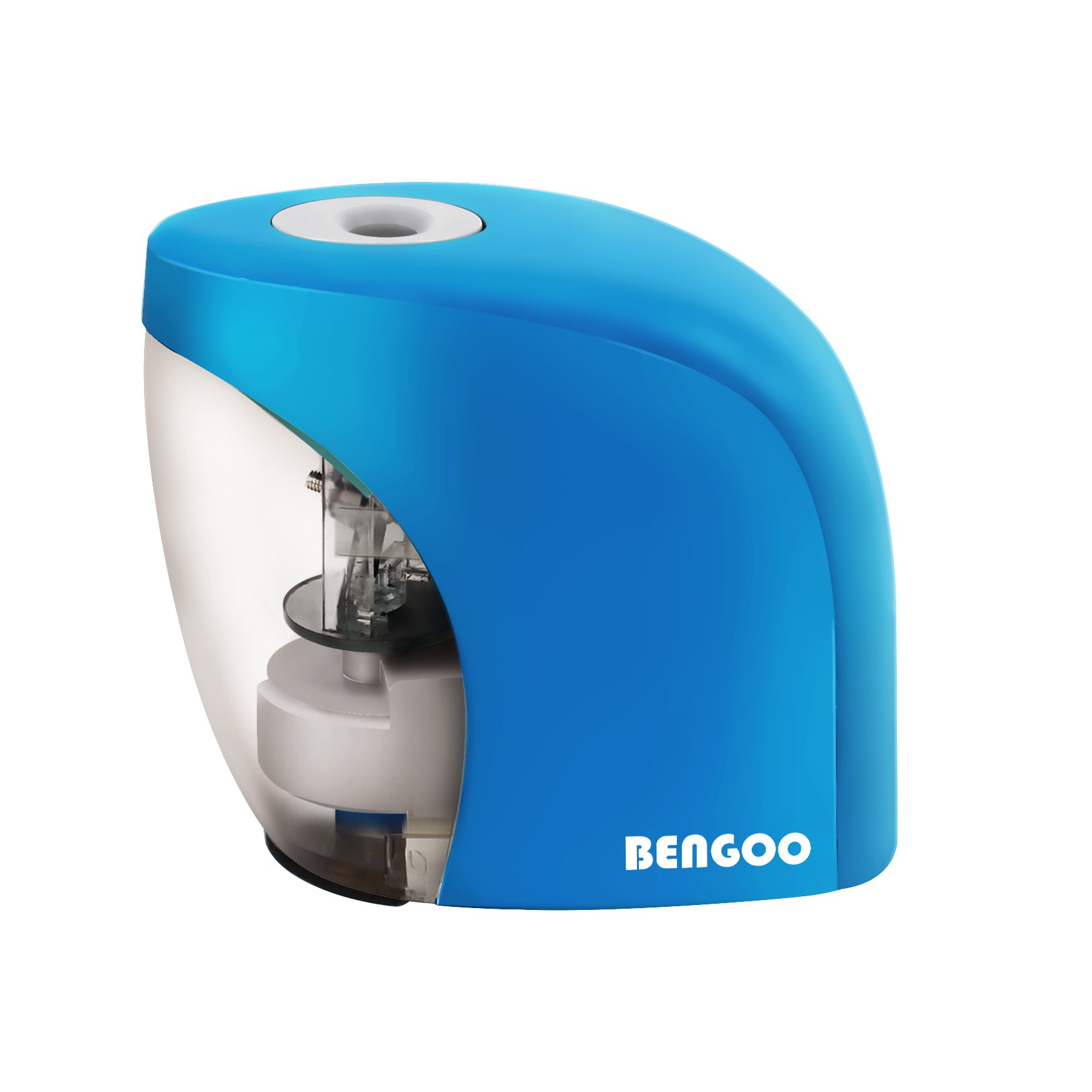 Pencil Sharpener with Auto Feature, BENGOO Electric Durable and Portable Pencil Sharpener for 8mm diameter Pencils, for School Classroom, Home Study, Office Use-Blue (Batteries not included)