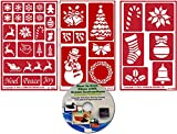Arts & Crafts : Christmas Stencil (3) Pack , Over N Over Reusable + How to Etch CD