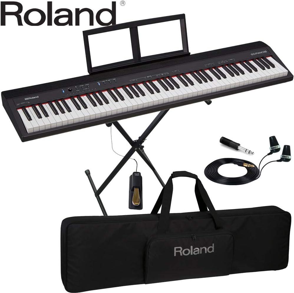 軽い 88鍵盤 電子キーボード Roland GO PIANO 88 (X型キーボードスタンド/キーボードケースセット)