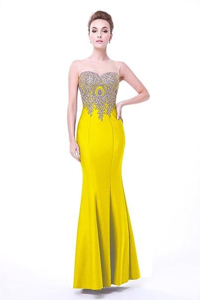 King s Love Mujer sirena vestidos de dama Suelo longitud barato Party Dress