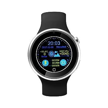 Smartwatch, leshp inteligente salud muñeca resistente al agua cronómetro podómetro anti-lost Función Smart reloj de alarma recordatorio sedentaria para ...