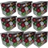 Martha Stewart Everyday 18 Shatter Proof Ornaments Set of 10 Gift Bundle