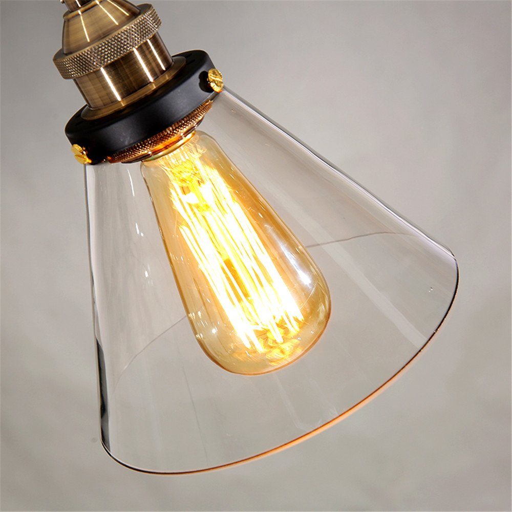Glass Pendant Light For Kitchen Island Dining Room Modern Ceiling Lamp Office Chandelier Lighting Fixtures Shop Pendant Lamp Bulb Include UNICASA by UNICASA