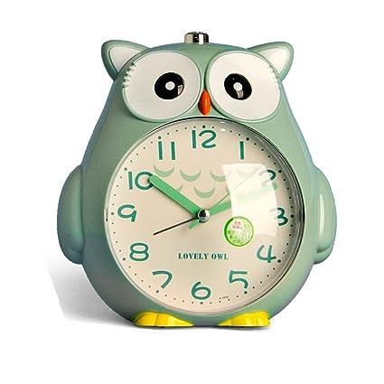 Dormitorio Estudiante búho LED Despertador reloj de cabecera mudo ...