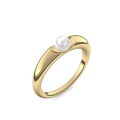 Perlenring Gold Ring Akoya Perle Weiss 585 Inkl Luxusetui Akoya