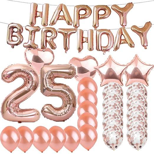 Amazon.com: Sweet 25th cumpleaños decoraciones suministros ...
