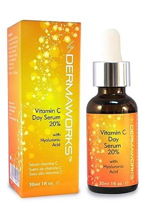 73765969bbd NEW DERMAWORKS 20% Vitamin C Serum with Hyaluronic Acid & Vitamin B3. Anti-
