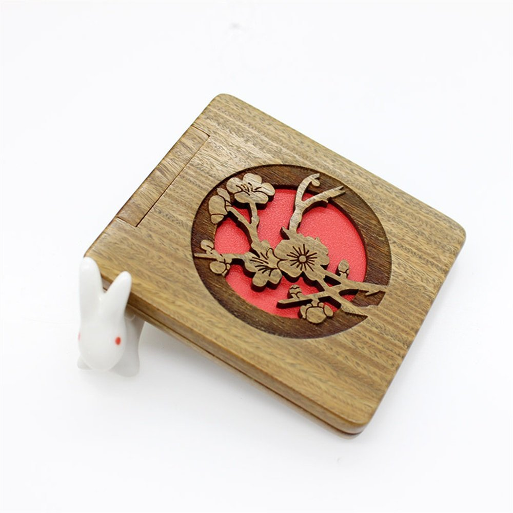 Yingealy Childrens Mirror Mini Foldable Wooden Simple Mirrors for Crafts Decoration Cosmetic Accessory