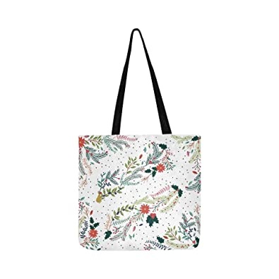 Amazon.com  Vector Set Floral Decorations Christmas Winter Canvas Tote  Handbag Shoulder Bag Crossbody Bags Purses For Men And Women Shopping Tote   Shoes 028261adbc