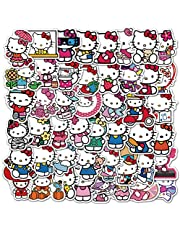 Hello Kitty Stickers  50 PCS   Vinyl Waterproof Stickers for Laptop,Bumper,Skateboard,Water Bottles,Computer,Phone, Anime Stickers for Kids Teens(Hello Kitty)