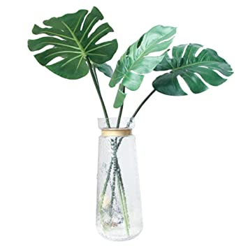 Buy Miragee Artificial Monstera Plant Fake Tropical Palm Leaves And Stem Green 5 Pieces Online At Low Prices In India Amazon In Silhouettes of evergreen compound leaves, different shapes, leaves made of thin curved lines. buy miragee artificial monstera plant