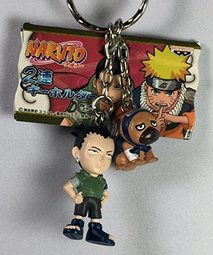 Shikamaru & Pakkun - Naruto Niren Chibi Twin Figure Mascot Keychain