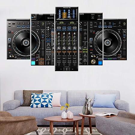 HQATPR Lienzo de Pintura 5 Piezas DJ Reproductor de música ...