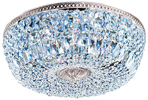 Classic Lighting 52824 CH CP Crystal Baskets, Crystal, Flush/Semi-Flush, 24