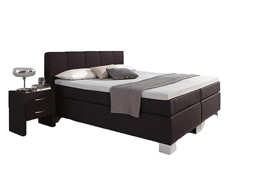 dreams4home boxspringbett manhattan kt1 anthrazit 100 140 160 180 200x200cm verschiedene. Black Bedroom Furniture Sets. Home Design Ideas