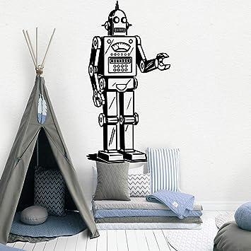 mlpnko Robot Europeo Papel Tapiz de Vinilo Enrollable decoración de Muebles habitación Infantil decoración del hogar 42x81cm: Amazon.es: Hogar
