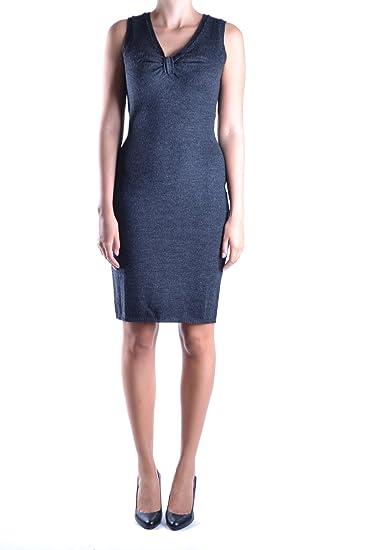 Dolce   Gabbana Vestito Donna MCBI099291O Lana Grigio  Amazon.it ... 9d878c2d508