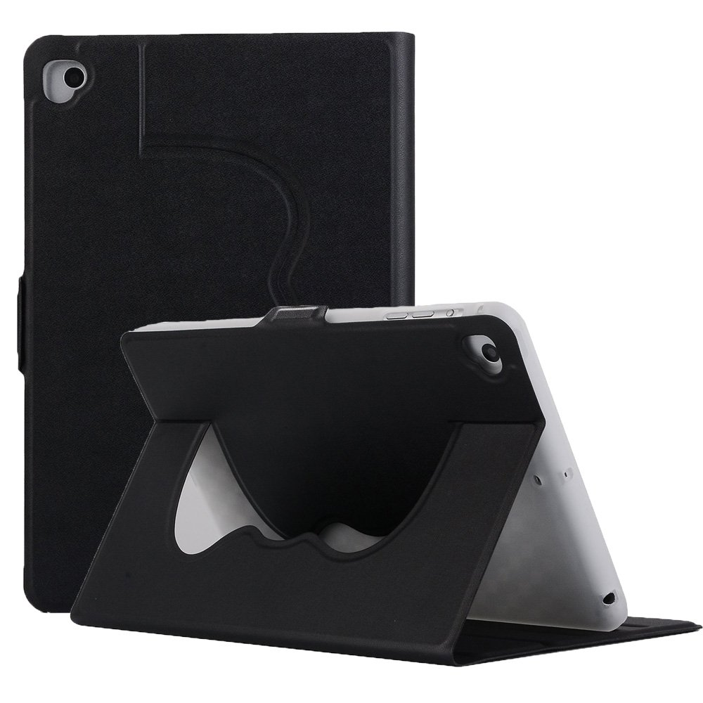 7.9 Inch iPad Mini Case for iPad Mini 4/3/2/1, TPU+PU Leather Ultra Slim Lightweight Smart Full Body Protective Case Cover for iPad Mini 1/2/3/4, 7.9 Inch, Black