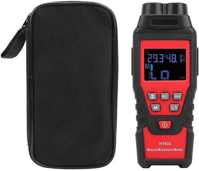 Damp Meter Digital LCD Moisture Detector Wood Wall Cardboard Humidity Meter G0M8