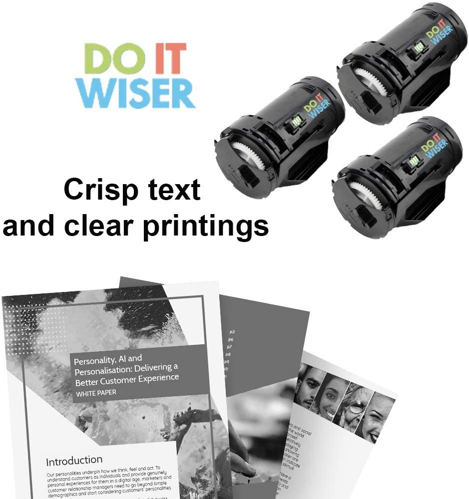 3,000 Pages, Black, 3-Pack Do it Wiser Compatible Toner Cartridge Replacement for Dell S2815dn H815dw S2810 S2810dn S2815 F9G3N 593-BBML