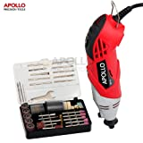Apollo Heavy Duty 170W Multi Purpose Rotary Combitool Multi-Tool with Variable Speed Switch & 120 Piece Mixed Accessory Kit in Storage Case. Compatible with Dremel Accessories