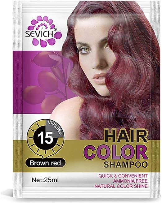 SEVICH Champú de color de cabello – 15 minutos al instante tinte de color de cabello, champú de color de cabello natural, acondicionador de reparación ...