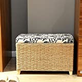 Handmade beige entryway storage bench/large Storage bench/wood Stool/floor pouf/Wooden chair/wedding gift/Country decor