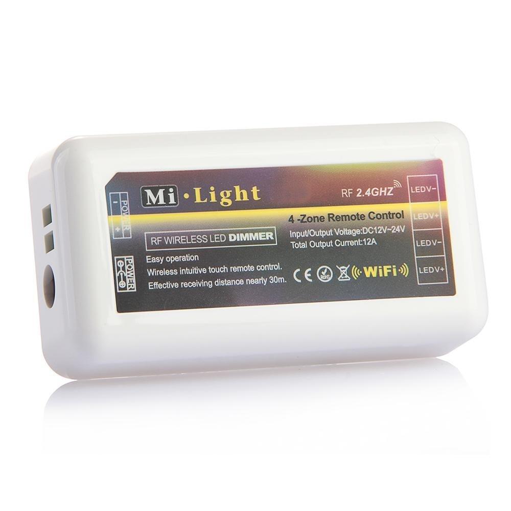 TOOGOO(R) Inalambrico WiFi 2.4G wifi Modulo de control controlador LED para monocromatica tiras LED 031240