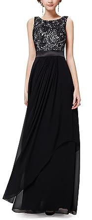 sekitoba-japan.inc Elegant Sleeveless Round Neck Maxi Long Party Evening Dress for Women