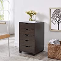 Naomi Home Taylor 5 Drawers Cabinet Espresso