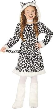NET TOYS Dulce Disfraz de Leopardo para niña - Blanco-Negro 10 ...