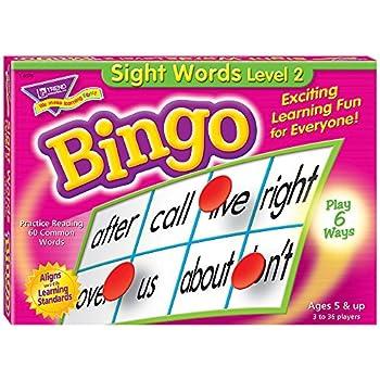 Sight Words Level 2 Bingo Game