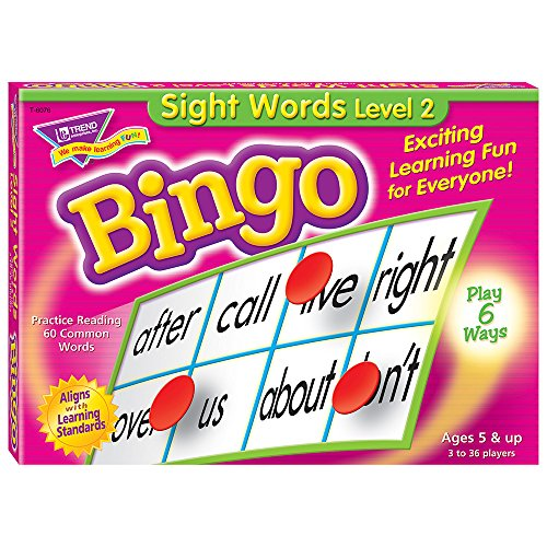 - Sight Words Level 2 Bingo Game