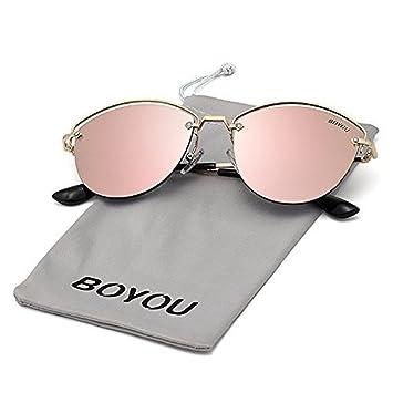 BOYOU Lunettes de soleil femme avec protection UV400 TM1fxTZjx