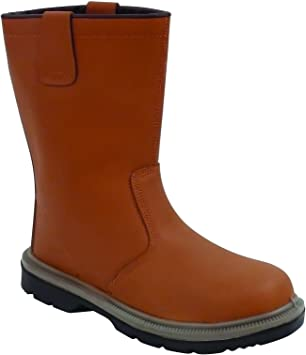 Unlined Rigger Boots Safety Work Shoes