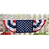 Patriotic 5 Ft Long American Flag Bunting, Traditional