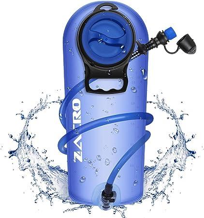 Zacro TPU Bolsa de Hidratación 2.5L, Mochila Hidratación Portátil sin BPA, Bolsa de Agua con Sistema de Auto-Bloqueo y Apertura Grande, para Ciclismo, ...