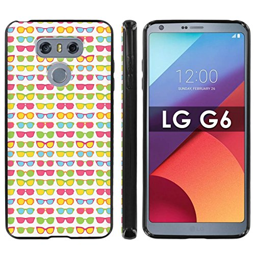 LG G6 Soft Mold [Mobiflare] [Black] Thin Gel Protect Cover - [Sunglasses] for LG G6 [5.7