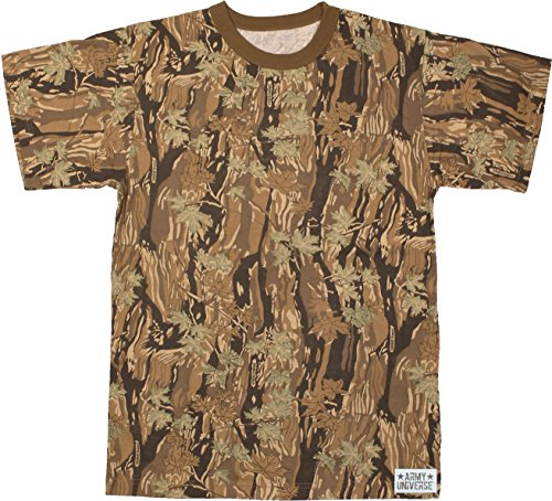Military Camouflage T-Shirt Camo Crewneck Tee Short Sleeve Top with  ArmyUniverse Pin - Buy Online in Oman.  40a950ab91e5