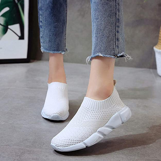 Amazon.com | LLNONG Women Outdoor Mesh Shoes Casual Slip On Comfortable Soled Running Breathable Shoes | Shoes