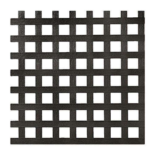 (0.2 in. x 48 in. x 8 ft. Black Privacy Square Plastic Lattice (Pack of 2))