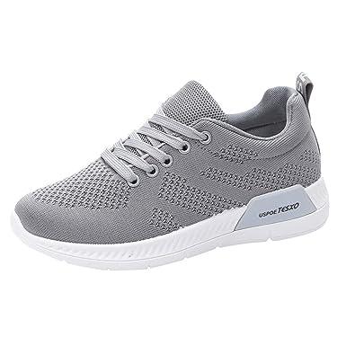 34dedc0dac8 DODUMI Baskets Homme Sneakers Running Shoes Dames Lettres Casual Chaussures  De Course Voyage en Mesh Respirant